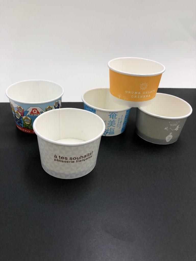 オーダーのアイスカップ実例
